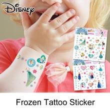 2pcs/lots Disney Frozen Stickers Tattoo StickerNon-toxic Waterproof Sticker Disney Princess Sticker for Girls Gift