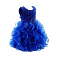 2017 New Baby Toddler Girl Dress Flower Princess Wedding Infant Party Pageant Fancy Cute Dress