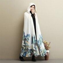 Одежда для медитации женский плащ-манто в китайском стиле женский плащ с капюшоном TA977