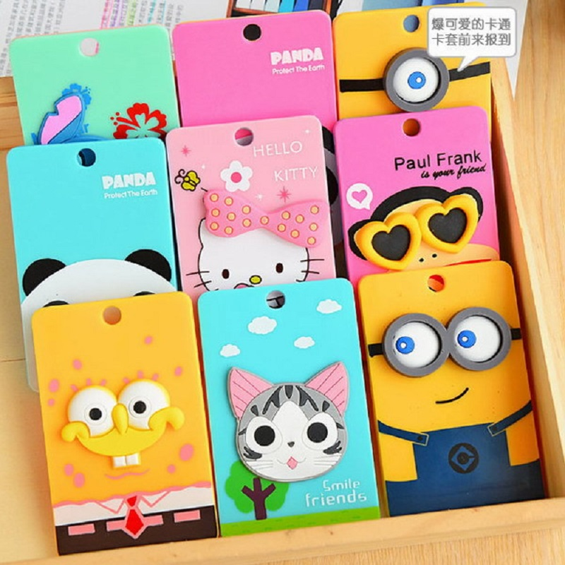 Luggage & Bags Pu Card Holder Credit Card Bus Card Case Hot Sale Cute Cartoon Panda Duck Monster Design Key Holder Ring Bag Accessories Kt5 Excellent In Cushion Effect Coin Purses & Holders