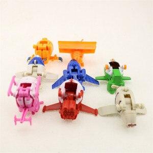 Image 4 - 8 adet/takım MINI Anime süper kanatları modeli Mini uçaklar oyuncak dönüşüm uçak Robot aksiyon figürleri superwings oyuncaklar çocuklar için