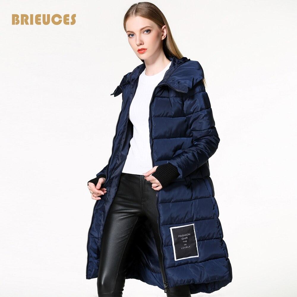 Brieuces luvas mulheres inverno jaqueta de manga Apliques Remendo para baixo capuz de pele real das mulheres jaqueta de algodão parkas Assistente bola