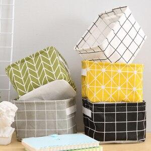 Image 1 - Caixas de armazenamento de algodão compõem cosméticos organizador livro recipiente roupas sujas caixão organizador de escritório portátil com alça