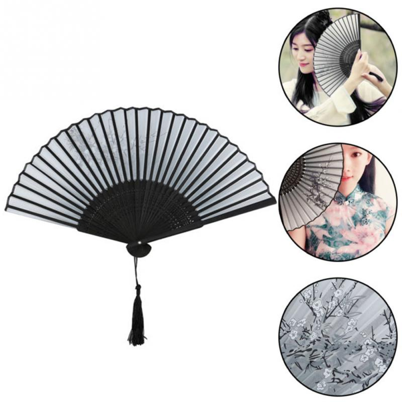 2018 1PC Practical Folding Hand Held Fan Colorful Beautiful Handmade Silk Chinese