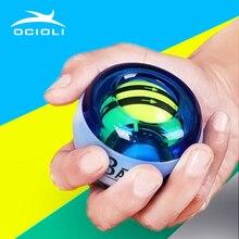 OCIOLI мощность взрывной тренировки Gyroscrope силы гироскопа запястье рука палец тренажер Pow мяч ручной Спиннер фитнес кистевой эспандер