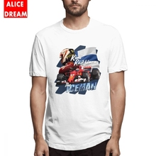 Racing Motor Car t shirt Kimi Raikkonen T-shirt Male 2018 T Shirt O-neck S-6XL Big Size Tee стоимость
