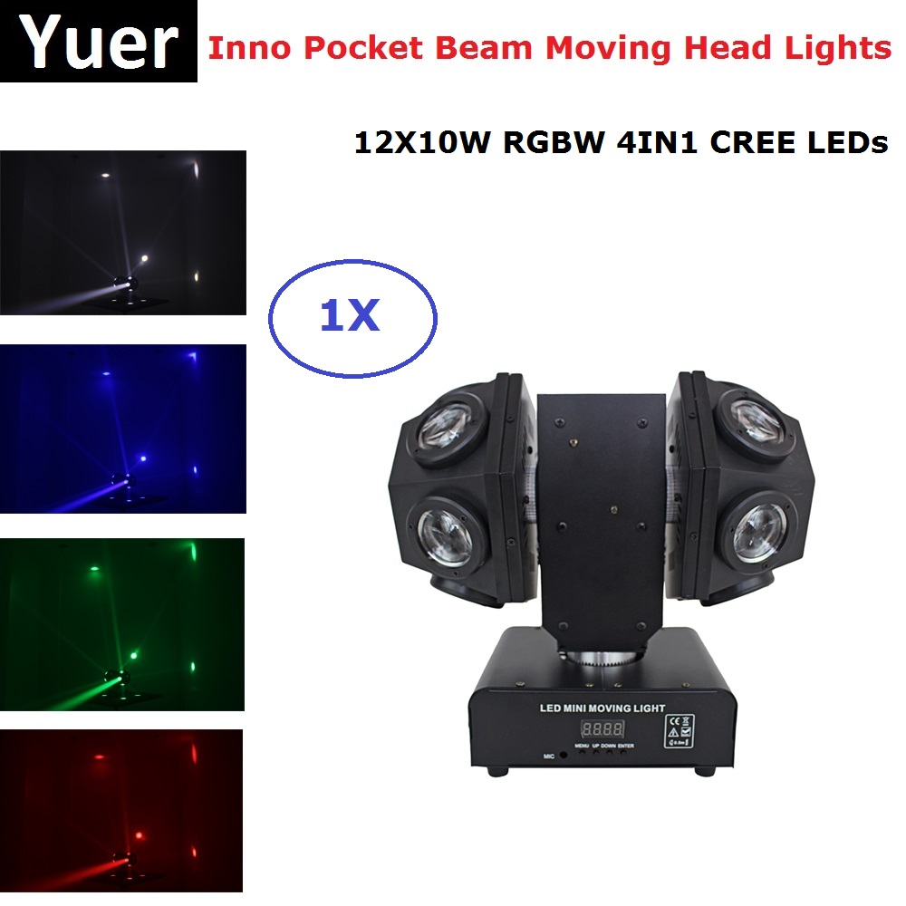 2019 Newest 12X10W RGBW 4IN1 LED Beam Lights LED Disco Lights DMX512 Football Moving Head Light Professional Dj Bar Party Lights