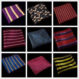 60 цветов модные шелковые карманные квадраты мужские Пейсли квадратный Карманный платок Шелковый Пейсли мужской свадебный квадратный карм...