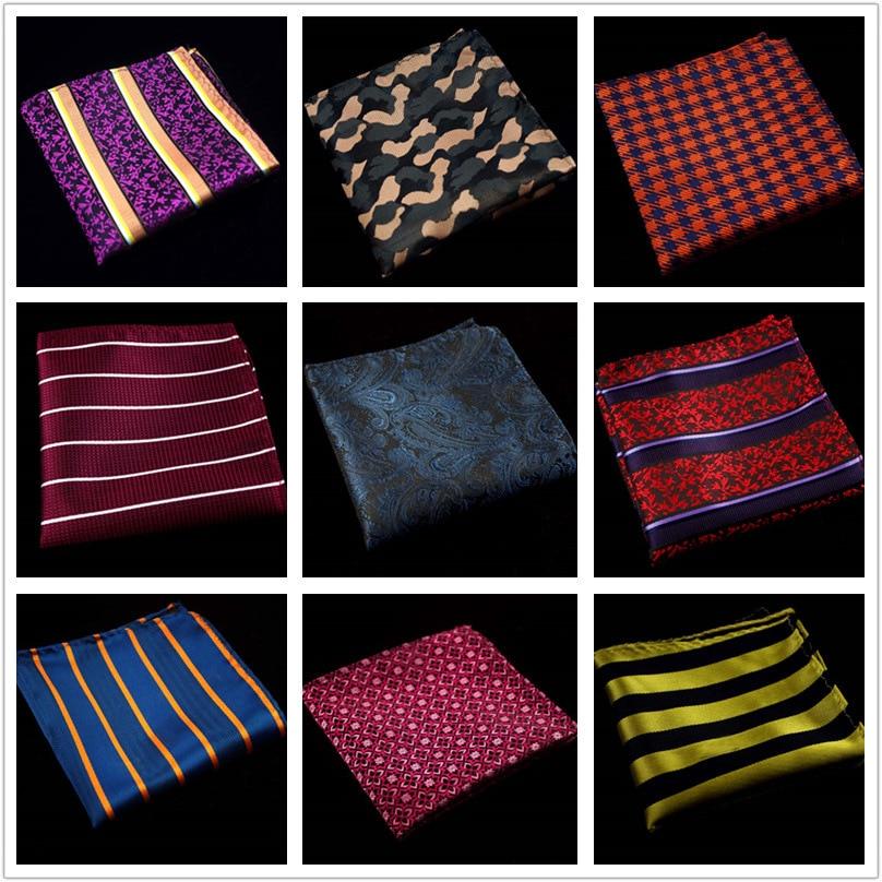 60 Colors Fashion Silk Pocket Squares Men Paisley Square Pocket Handkerchief Silk Paisley Men Wedding Square Pocket 22*22cm