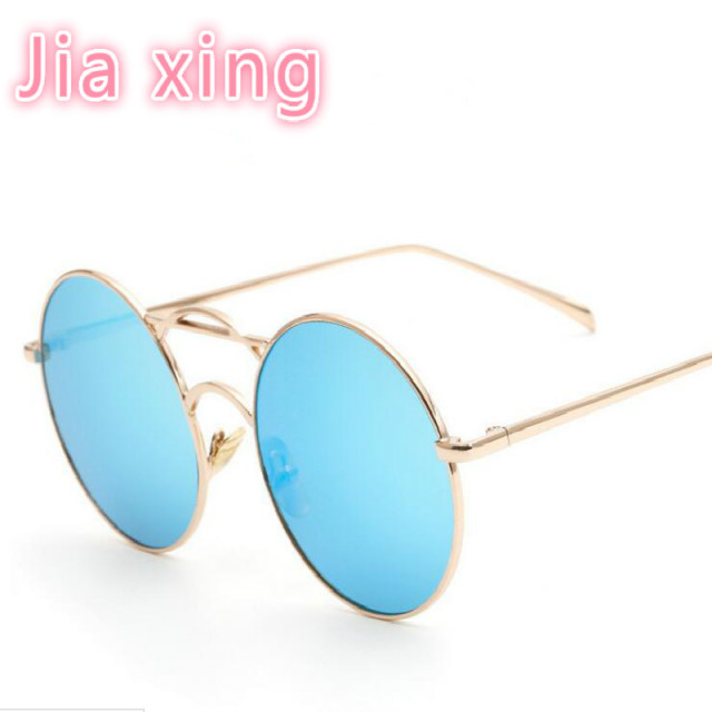 b90992f1f8 New sunglasses Round box color film sunglasses women  men Europe large frame  trend sunglasses Round box Retro sun glasses UV400