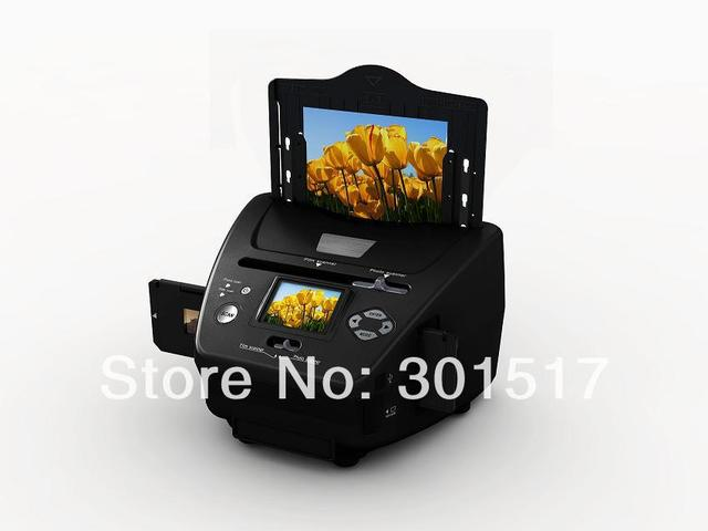 Free shipping 2.4inch photo slides and negatives film scanner fast high resolution