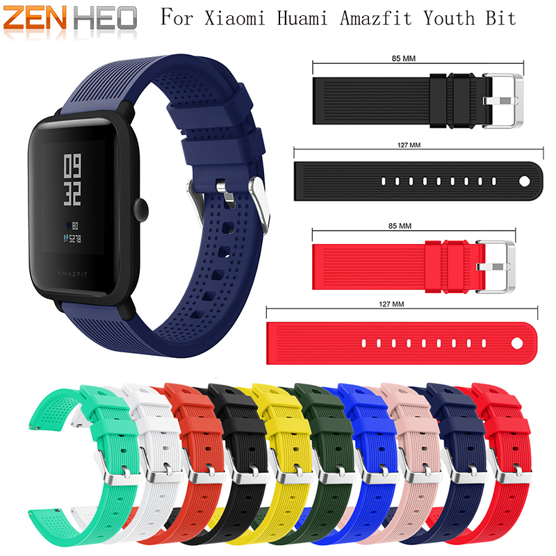 Strap Replace Watch Straps for Amazfit Youth Silicone Straps for Xiaomi Huami Bip BIT PACE Lite Youth Smart Watch Wrist Bracelet