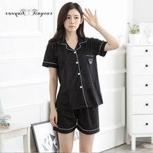 69c7a25fa902 Tinyear sweet pyjamas women cotton Summer short sleeves comfortable pajama  sets women shorts Cute loungewear ladies