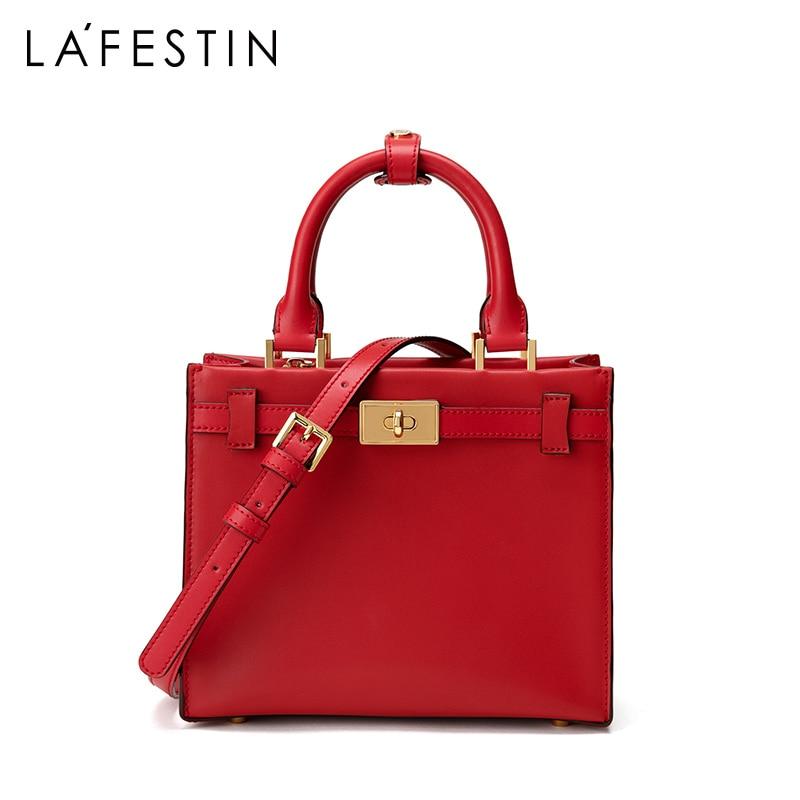LA FESTIN 2019 nuove borse di lusso borse delle donne del progettista borsa di cuoio di grande capienza del sacchetto di spalla del sacchetto del Messaggero femminile-in Borse a tracolla da Valigie e borse su  Gruppo 2