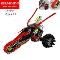 SERMOIDO New Kais Fire Mech Kay Flame Mecha Robot Ninja Building Blocks Kids Educational Toys Compatible