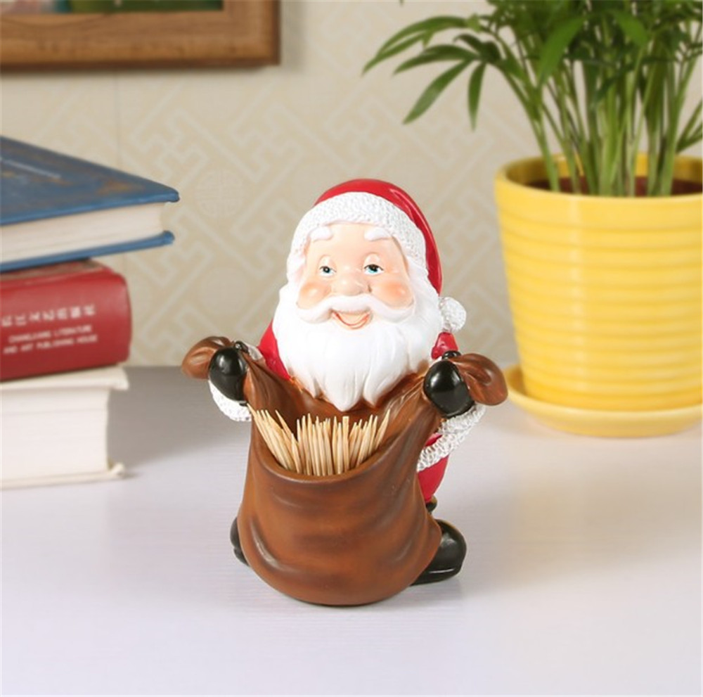 Lovely Christmas Decorations Santa Desktop Children Christmas Eve Gift Toothpick Box