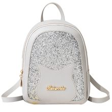 Girl's Small Backpack 2019 Brand Fashion Shining Sequin Shoulder Bag Women Multi-Function Mini Back pack Teenage Girls Kid #GEX(China)