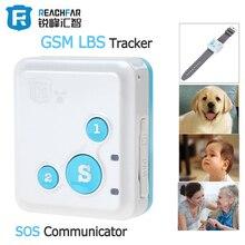 Portable RF-V18 Mini GSM Tracker LBS Tracker & SOS Communicator for Kids Children Elderly Personal GSM Tracking Device
