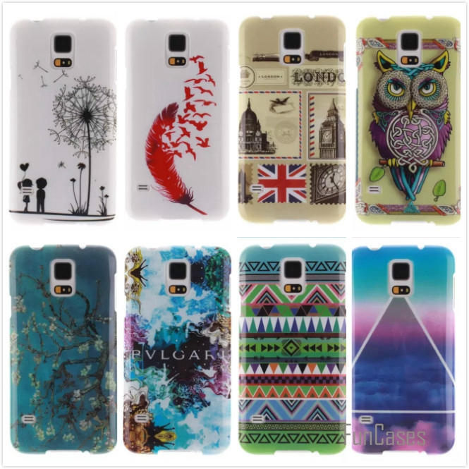 Cartoon High Quality Glossy Soft TPU Case Silicon Protector Back Cover Owl Phone Cases For Samsung Galaxy S5 Mini S5Mini G800