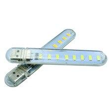 8 светодиодный s SMD5730 светодиодный USB светильник Ночной светильник книжный светильник s кемпинговая лампа для банка питания/comupter портативный сияющий светодиодный светильник