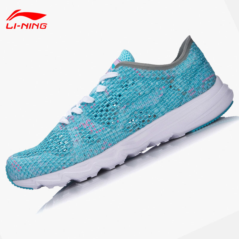 Li Ning Women s Candy Running Shoes Light Weight Textile Breathable Sports Shoes Sneakers ARBM018