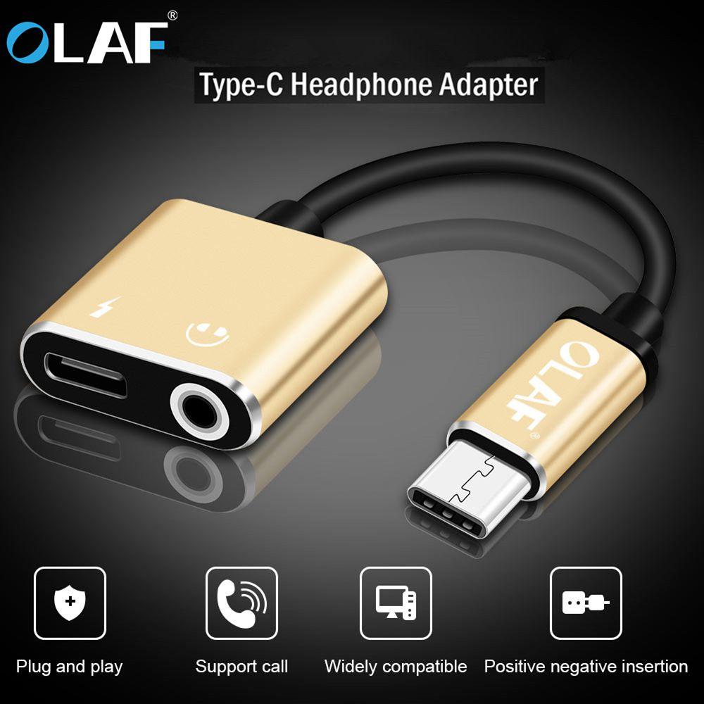 2 In 1 Type C To 3.5mm Jack Earphone Charging Converter USB Type-C Audio Adapter For Huawei Mate 20 Pro Samsung S9 Type C Phones