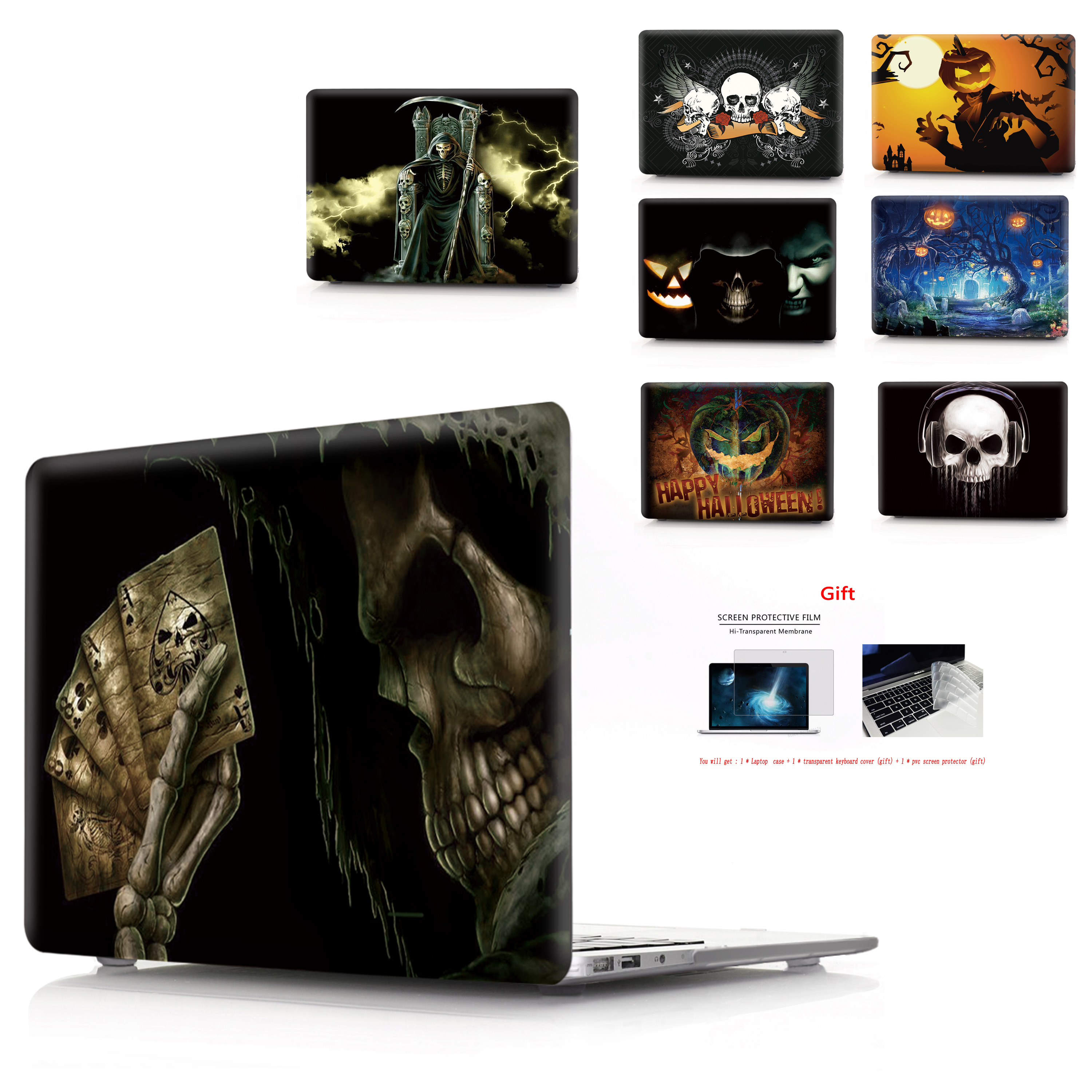 printing Laptop Halloween Case For MacBook Air Retina Pro 11 12 13 15 New with Touch Bar