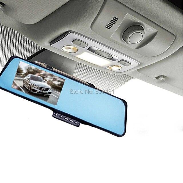 EZONETRONICS Car Rearview Mirror Camera Recorder DVR Dual lens Full HD 1080P 4.3'TFT LCD G-sensor Motion Detection Night Vision