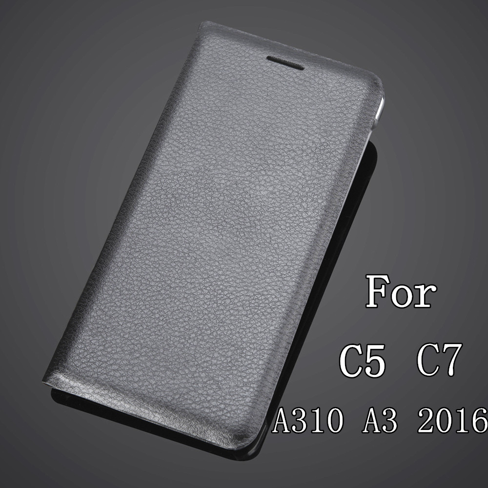 For C5/C7/A310Protectoer with Card slot For Samsung Galaxy C5/C7/A310(A3 2016) Luxury Flip Leather Case With Card Holder Cover