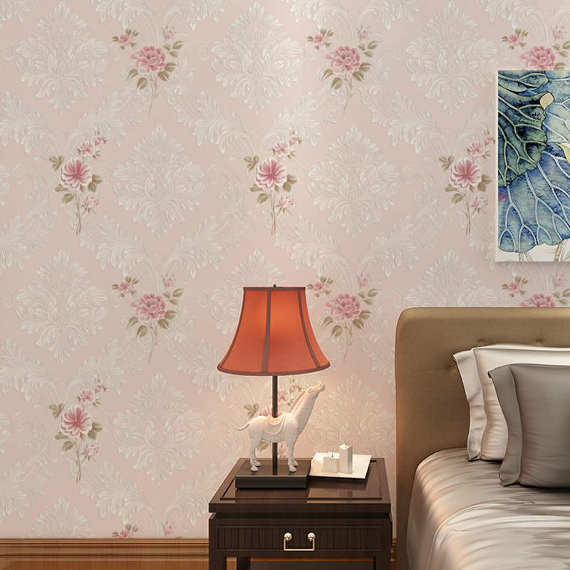 Modern European rural sweet flowers non-woven wallpaper foaming stereo 3d sitting room bedroom TV setting wall paper restaurant free shipping nordost odin 75ohm digital coaxial cable with wbt 0144 rca plug