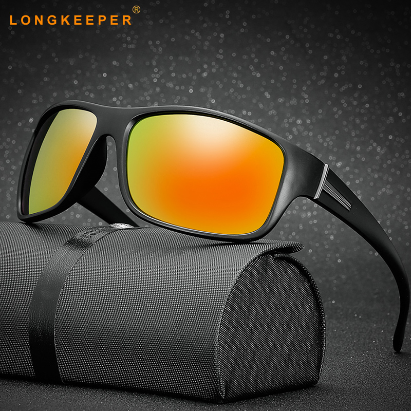 Sunglasses Men Polarized Lens Driving Black Frame Eyewear Male Sun Glasses UV400 Vintage Gafas Long Keeper