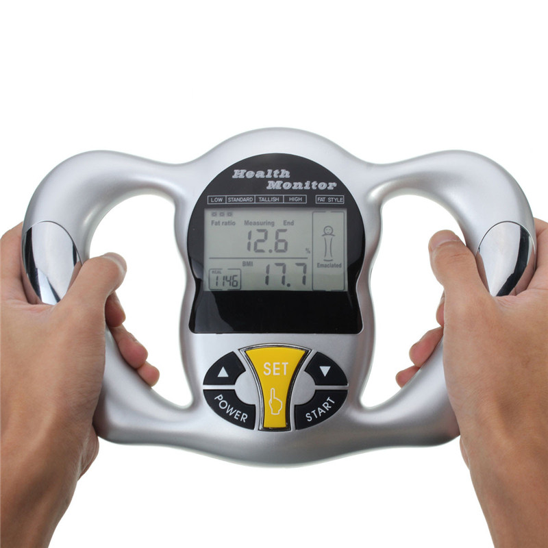 US $23 32 38% OFF|New Digital LCD Fat Analyzer BMI Meter Weight Loss Tester  Calorie Calculator Electronic Handheld Measurement Health Care Tools-in