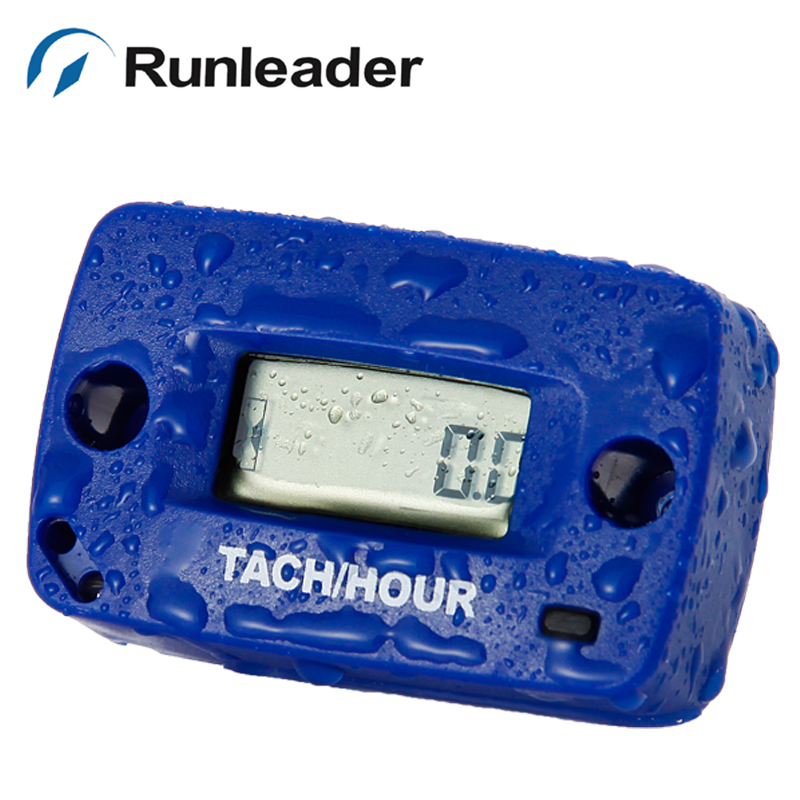Digital Tach Tachometer RPM Hour Meter for gas engine pit bike MX ATV Motorcycle motocross Snowmobile jet ski boat truck tractor