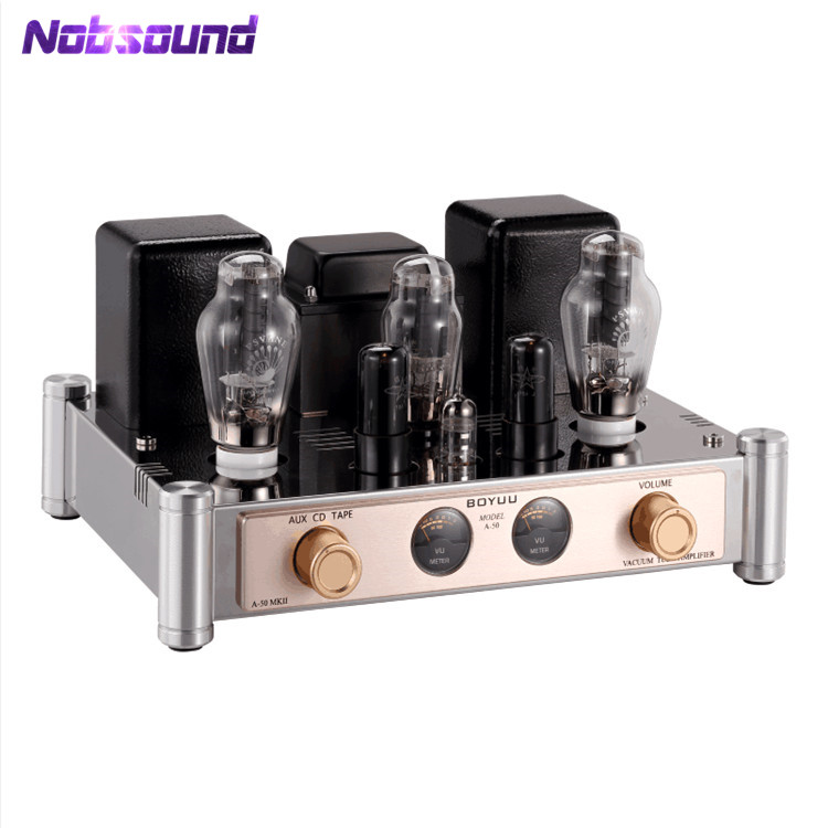 Hi-end Boyuu A50 300B Vacuum Tube Amplifier Single-ended Class A Integrated Hi-Fi Stereo Power Amplifier 8W+8W hi end 300b valve