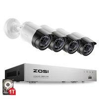 4CH 1080 P HDMI P2P TVI DVR наблюдения Системы видео Выход 4 шт. 2000TVL 2.0MP IP Камера Главная безопасности CCTV наборы NO HDD