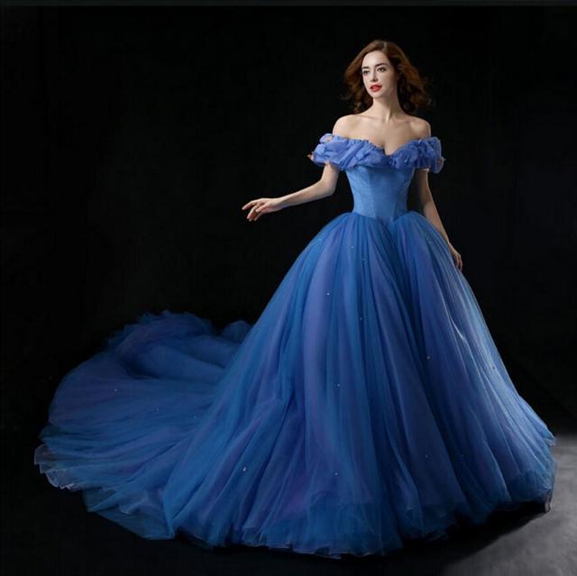 Heißer Verkauf 2015 Neue Film Deluxe Blau Cinderella Kostüm Party ...