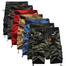 Primavera Verano para hombre Trajes de Carga Multi-Bolsillo pantalones casuales Hombres Ropa Militar de Camuflaje Del Ejército de Camo joggers Pantalones Cortos