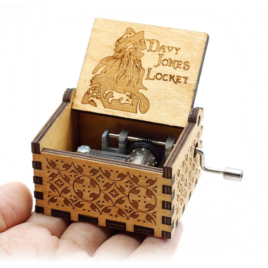 Горячая королева Рука коленчатого дерева Музыкальная шкатулка с днем рождения Звездные войны игра трона Крестный отец Рождество подарок на год - Цвет: Davy Jones