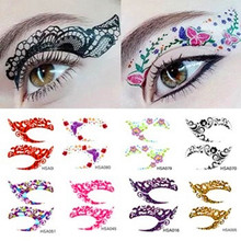 2017New Exclusive 90 styles party makeup Eye rock Face Tattoo Waterproof disposable eyeshadow sticker free shipping