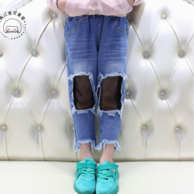 Spring-Girls-Jeans-Hole-2017-Summer-Girls-Jeans-Kids-Pants-Fashion-Fishnet-Design-Childrens-Denim-Trousers-Kids-Dark-Blue-Pants-2