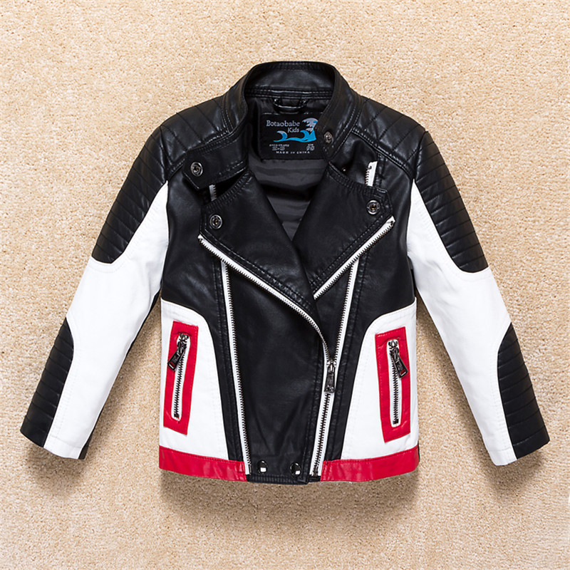 Jackets For Boys 2017 Fall Fashion Brand Leather Jacket Children Winter Girls Outerwear Coats Infant Kids Long Sleeve Coat boys fleece jackets solid coat kid clothes winter coats 2017 fashion children clothing