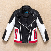 Jackets For Boys 2017 Fall Fashion Brand Leather Jacket Children Winter Girls Outerwear Coats Infant Kids Long Sleeve Coat