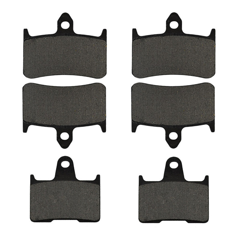 Motorcycle Parts Front & Rear Brake Pads Kit For HONDA CB1300 CB 1300 X4 DCV DCW DCX DCY SC38 1997-2000 Metal & Brass Alloys green motorcycle parts helmet web cargo net mesh fit for honda gb250 clubman h j l p s v 1987 1997