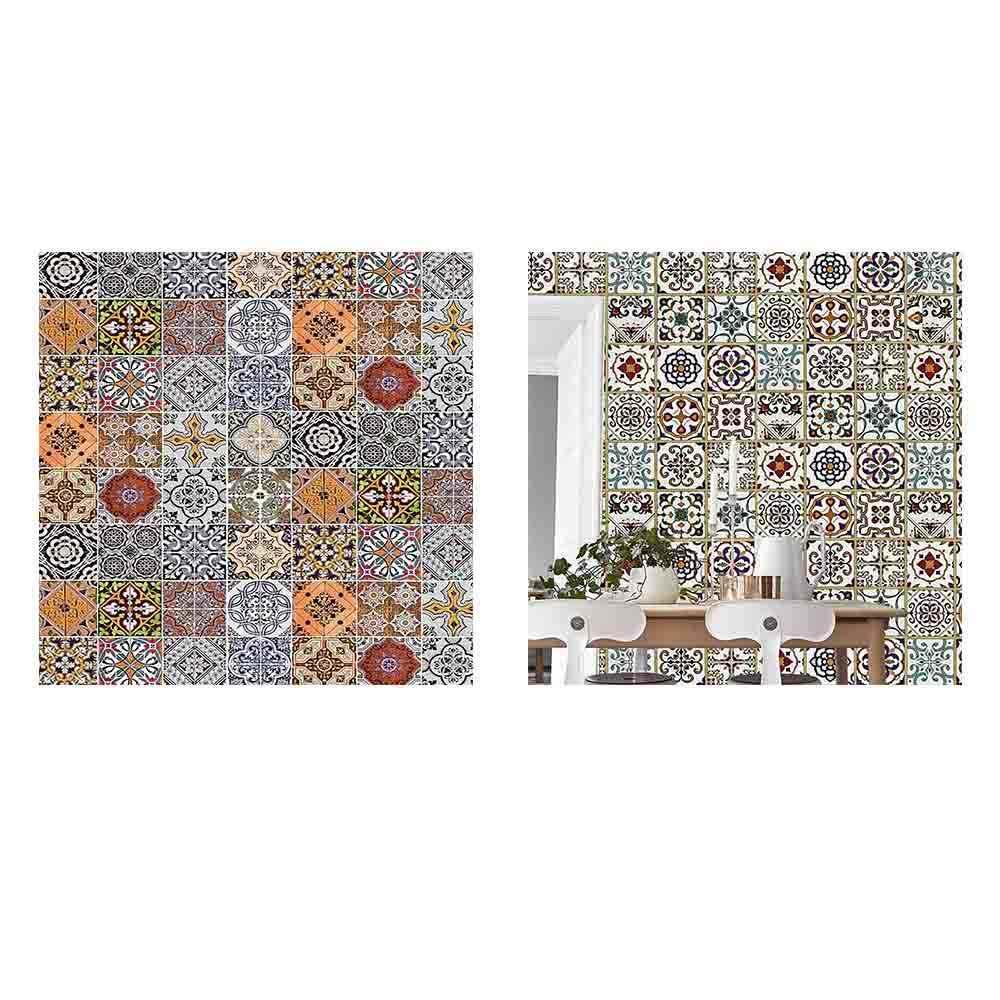 45 CM × 5 M bohemios dormitorio sala de estar Fondo pared papel pintado azulejo de imitación papel de Contacto