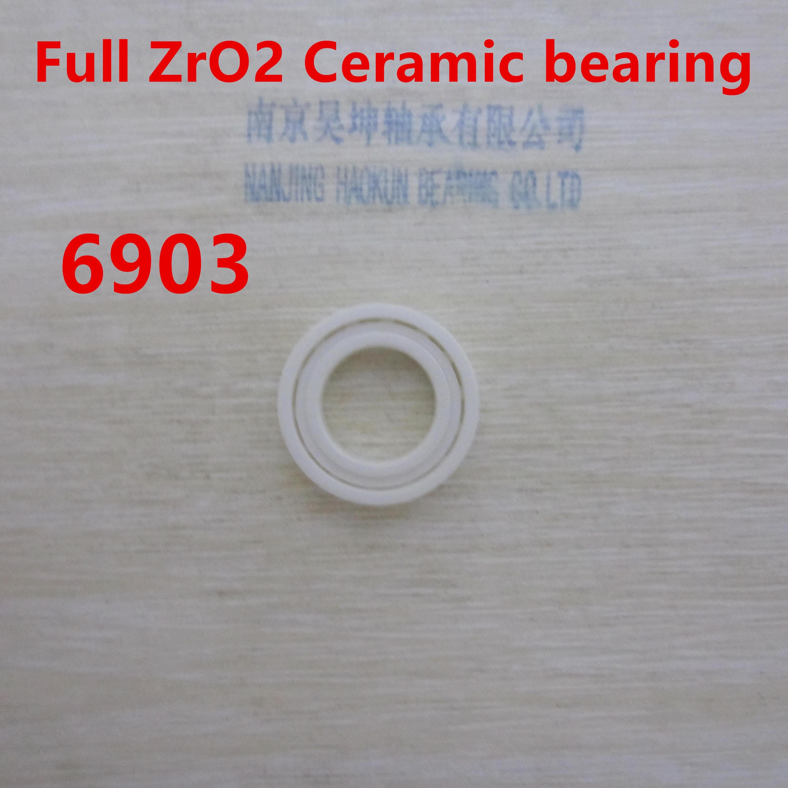 6903 ceramic bearing zro2 full ceramic material 61903 61916 6916 zro2 full ceramic bearing 80x110x16mm