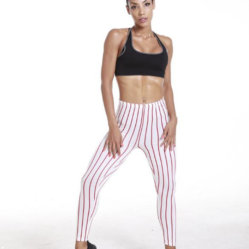 leggings women Summer new fashion wild wear nine pants vertical stripes leggings female leggins women fitness leggings
