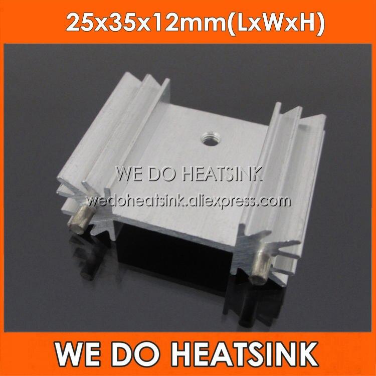 WE DOHEATSINK 5pcs 25x35x12mm Extruded Radiator Heatsink With Radial Fins For MOSFET