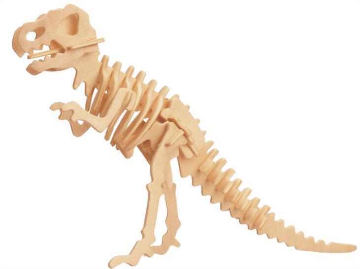 Dinosaur 3D Taxta Puzzle DIY Simulyasiya Model Uşaq Təhsil - Bulmacalar - Fotoqrafiya 4
