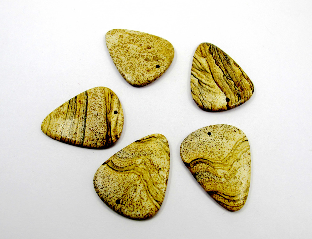 Výběr prstů z přírodního kamene na kytaru Jaspe r Kytara na kytaru 2ks / lot Přívěsek na drahokamy