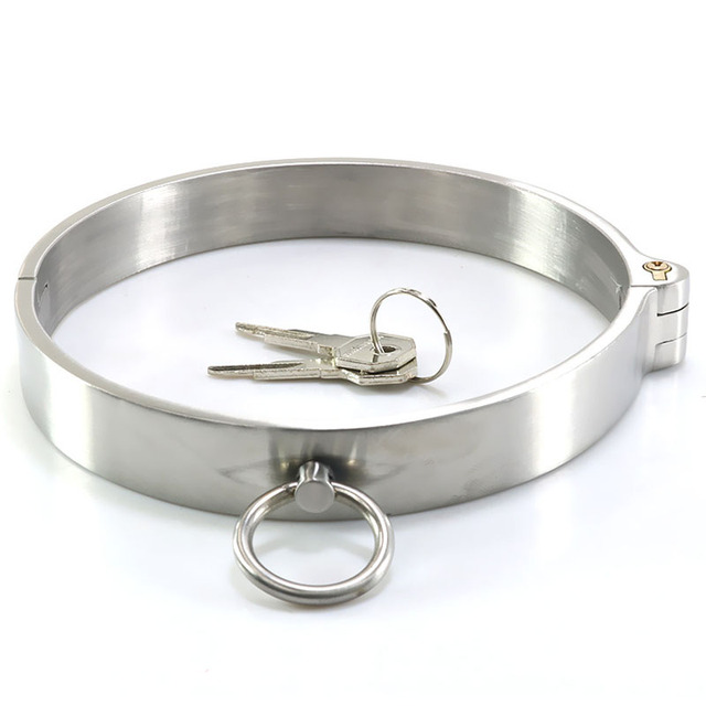 Stainless Steel Metal Neck Collar Ring Adult Games Fetish BDSM Collar Slave Bondage Restraints Sex Toys for Woman Men Necklace